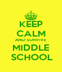 KEEP CALM AND SURVIVE MIDDLE  SCHOOL - Personalised Poster A4 size