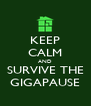 KEEP CALM AND SURVIVE THE GIGAPAUSE - Personalised Poster A4 size