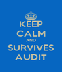 KEEP CALM AND SURVIVES AUDIT - Personalised Poster A4 size