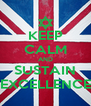 KEEP CALM AND SUSTAIN EXCELLENCE - Personalised Poster A4 size