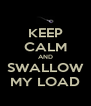 KEEP CALM AND SWALLOW MY LOAD - Personalised Poster A4 size