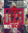 KEEP CALM AND SWIFT is RED - Personalised Poster A4 size