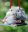 KEEP CALM AND SWING DR - Personalised Poster A4 size