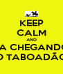 KEEP CALM AND TA CHEGANDO O TABOADÃO - Personalised Poster A4 size