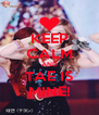 KEEP CALM AND TAE IS MINE! - Personalised Poster A4 size