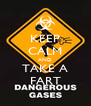 KEEP CALM AND TAKE A FART - Personalised Poster A4 size