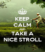 KEEP CALM AND TAKE A NICE STROLL - Personalised Poster A4 size