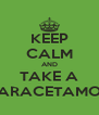 KEEP CALM AND TAKE A PARACETAMOL - Personalised Poster A4 size