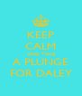KEEP CALM AND TAKE A PLUNGE FOR DALEY - Personalised Poster A4 size