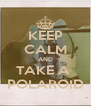 KEEP CALM AND TAKE A  POLAROID - Personalised Poster A4 size