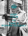 KEEP CALM AND TAKE A ROMAN HOLIDAY - Personalised Poster A4 size