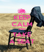 KEEP CALM AND TAKE A SEAT - Personalised Poster A4 size