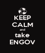 KEEP CALM and take ENGOV - Personalised Poster A4 size