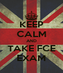 KEEP CALM AND TAKE FCE EXAM - Personalised Poster A4 size