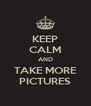 KEEP CALM AND TAKE MORE PICTURES - Personalised Poster A4 size