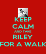 KEEP CALM AND TAKE RILEY FOR A WALK - Personalised Poster A4 size