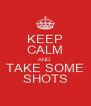 KEEP CALM AND TAKE SOME SHOTS - Personalised Poster A4 size