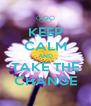KEEP CALM AND TAKE THE CHANGE - Personalised Poster A4 size