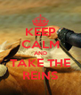 KEEP CALM AND TAKE THE REINS - Personalised Poster A4 size