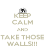 KEEP CALM AND TAKE THOSE WALLS!!! - Personalised Poster A4 size