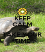 KEEP CALM AND TAKE YOUR TIME - Personalised Poster A4 size