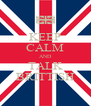 KEEP CALM AND TALK BRITTISH - Personalised Poster A4 size