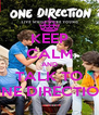 KEEP CALM AND TALK TO ONE DIRECTION - Personalised Poster A4 size