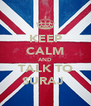 KEEP CALM AND TALK TO SURAJ  - Personalised Poster A4 size