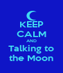 KEEP CALM AND Talking to the Moon - Personalised Poster A4 size