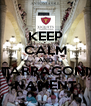 KEEP CALM AND TARRAGONI NAMENT - Personalised Poster A4 size