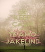 KEEP CALM AND TE AMO JAKELIN♥ - Personalised Poster A4 size