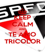 KEEP CALM AND TE AMO TRICOLOR - Personalised Poster A4 size