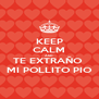 KEEP CALM AND TE EXTRAÑO  MI POLLITO PIO - Personalised Poster A4 size