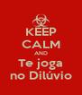 KEEP CALM AND Te joga no Dilúvio - Personalised Poster A4 size