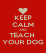 KEEP CALM AND TEACH  YOUR DOG - Personalised Poster A4 size