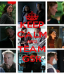 KEEP CALM AND TEAM GSR - Personalised Poster A4 size