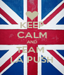 KEEP CALM AND TEAM  LA PUSH - Personalised Poster A4 size