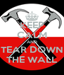 KEEP CALM AND TEAR DOWN THE WALL - Personalised Poster A4 size