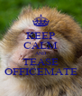 KEEP CALM AND TEASE OFFICEMATE - Personalised Poster A4 size