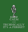 KEEP CALM AND TECHNICALLY IT'S A FERRET! - Personalised Poster A4 size