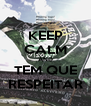 KEEP CALM AND TEM QUE RESPEITAR - Personalised Poster A4 size