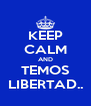 KEEP CALM AND TEMOS LIBERTAD.. - Personalised Poster A4 size