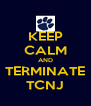 KEEP CALM AND TERMINATE TCNJ - Personalised Poster A4 size