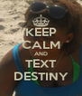 KEEP CALM AND TEXT DESTINY - Personalised Poster A4 size