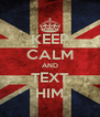KEEP CALM AND TEXT HIM - Personalised Poster A4 size