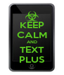 KEEP CALM AND TEXT PLUS - Personalised Poster A4 size