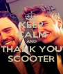KEEP CALM AND THANK YOU SCOOTER - Personalised Poster A4 size