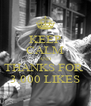 KEEP CALM AND THANKS FOR  3.000 LIKES - Personalised Poster A4 size