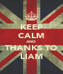 KEEP CALM AND THANKS TO LIAM - Personalised Poster A4 size