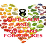 KEEP CALM AND THANKS TO OUR FANS FOR 300LIKES - Personalised Poster A4 size